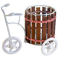 """Кашпо """"Велосипед с корзинкой"""", h-13см, металл/дерево"""