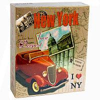 """Фотоальбом """"Нью-Йорк"""", для 40 фото в подарочной коробке, 17*14см, картон"""