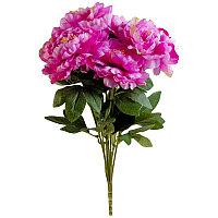 """Искусственные цветы """"Букет пионов из 7 цветов"""", h-50см, пластик/текстиль"""