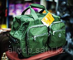 "Дорожная сумка на колесах ""ASIAPARD AL 1021-22"", 51х27х30см (зеленая)"