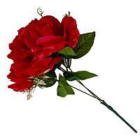 """Искусственные цветы """"Ветка розы"""", h-31см, пластик/текстиль"""