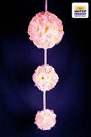 Свадебная композиция цветочные шары, 18см, пластик/текстиль