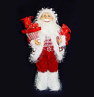 Санта Клаус в красном костюме, h-40см, текстиль