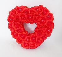 """Свадебная композиция из цветов""""Сердце"""", 20*22см, пластик/текстиль"""