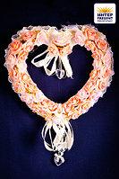 """Свадебная композиция из цветов """"Сердце"""", 34*36см, пластик/текстиль"""