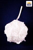 """Свадебная композиция из цветов """"Шар"""", 14 см, пластик/текстиль"""