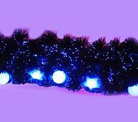 Гирлянда хвойная, светящаяся, с шарами и звездами , L-2м, пластик