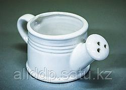 """Чаша декоративная """"Лейка"""" (керамика, белая),15х6х8,5см"""