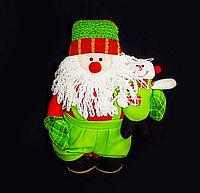 Снеговик с игрушкой, h-24см, текстиль