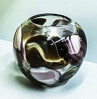 """Декоративная настольная ваза """"Круглая"""" (цветное стекло), 18см"""