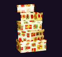 Коробки для подарков, удлиненные, 5шт, картон