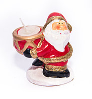 "Подсвечник ""Дед мороз"", h-8см, керамика"