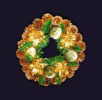 Подсвечник венок новогодний для 4х свечей (пластик)