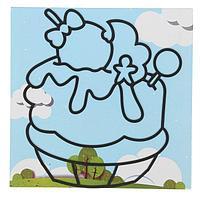 "Аппликация шариковым пластилином ""Веселье"" 8 цв., 30*25см, картон/пластик/пластилин"