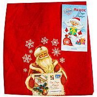 """Мешок Деда Мороза """"Новогодняя почта"""", 60*90см , текстиль"""