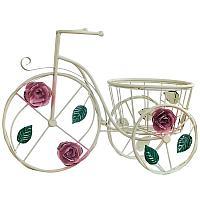 """Кашпо """"Велосипед в розах"""", h-37см, металл"""