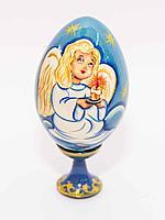 """Сувенир-яйцо пасхальное """"Ангел с девочкой"""" на подставке, h-8см"""