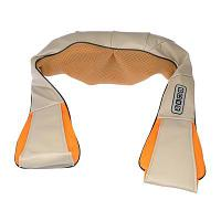 Массажёр для спины и шеи, наплечный, ИК-подогрев, 220В, текстиль, металл