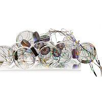 """Электрогирлянда """"Роса"""", встроенная в лампочки d-7,0 см, 10 ламп, L-2,5м, пластик"""