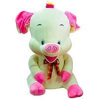 """Мягкая игрушка """"Свинка с хохолком"""", h-80см, текстиль"""