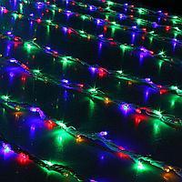 "Электрогирлянда ""Дождь"", 480 ламп, 3м*3м, цвет микс ,пластик"