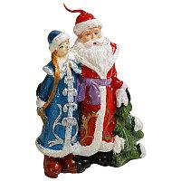"""Свеча новогодняя """"Дед мороз со снегуркой"""", h-10см, парафин"""