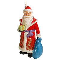"""Свеча новогодняя """"Дед мороз с елочкой"""", h-8см, парафин"""