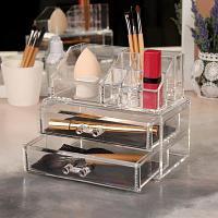 Органайзер для косметических принадлежностей , 11 секций, с двумя ящиками, 18,5*16*10,5 см, пластик