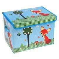 """Короб для хранения игрушек """"Лиса у дерева"""", 40*26*26 см, текстиль, мдф"""
