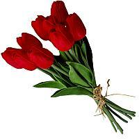"""Искусственные цветы """"Букет тюльпанов"""", h-50см, резина"""