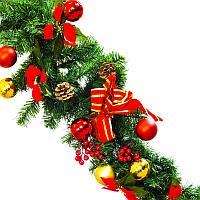 """Новогоднее украшение-сваг , """"Рождественский"""", L-180cм, пластик"""