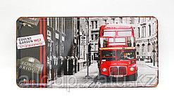 "Декоративная жестяная табличка, ""Red bus"", 15*30 см"
