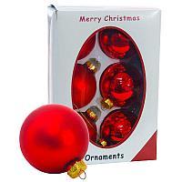 """Шары """"Merry Christmas"""", d-7см, 6шт в уп, цвет микс, стекло"""