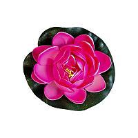 """Искусственные цветы """"Водная лилия"""", d-11см, резина-пластик"""