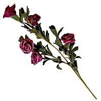 """Искусственные цветы """"Букет розочек"""", h-50см, пластик/текстиль"""