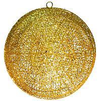 Шар золотистый, d-25см, метализированная нить