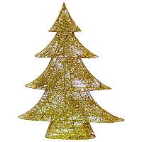 Декоративная елка, h-70см, цвет золото, металл