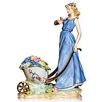"""Статуэтка """"Девушка с тележкой цветов"""", h-35 см, фарфор"""
