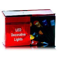 Электрогирлянда с переходником, 500 ламп, 50м, цвет микс, пластик