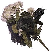 """Искусственные цветы """"Букет герани"""", h-40см, резина/пластик"""