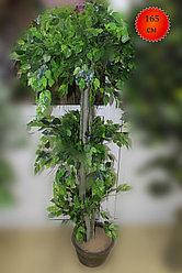 Дерево искусственное, фикус светло-зеленый, 165 см