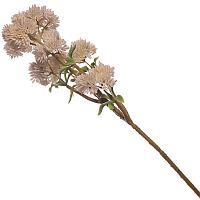 """Искусственные цветы """"Толстянка с белыми цветами"""", h-40cм, резина/пластик"""