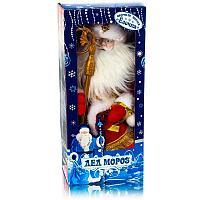 Дед мороз, музыкальный, интерактивный , h-40 см, текстиль