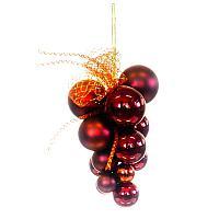 Набор ёлочных шаров , d-3-6см, связка, пластик