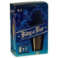 """Набор для приготовления коктейлей """"Король бара"""", шейкер 600 мл, стрейнер, гейзер, ложка, джиггер, металл"""