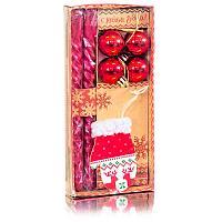 """Набор свечей с декором """"Чудес в Новом году!"""", 9,5 х 20 см , парафин , пластик"""