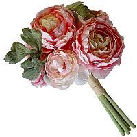"""Искусственные цветы """"Букет пионов"""", h-40см, текстиль/резина"""