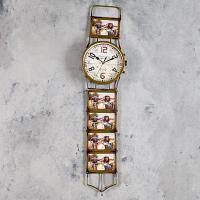 """Часы настенные """"Наручные часы"""", d-15 cм, металл, пластик"""