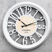 """Часы настенные """"Трафальгар"""", d-35 см, пластик, стекло"""
