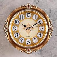 """Часы настенные """"Роскошь"""", d-38,5 см, плавный ход, пластик, стекло"""